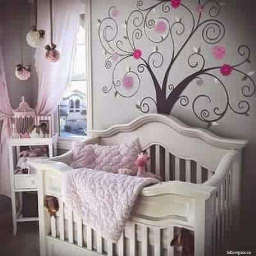 Décoration chambre bébé fille mauve - Idées de tricot gratuit