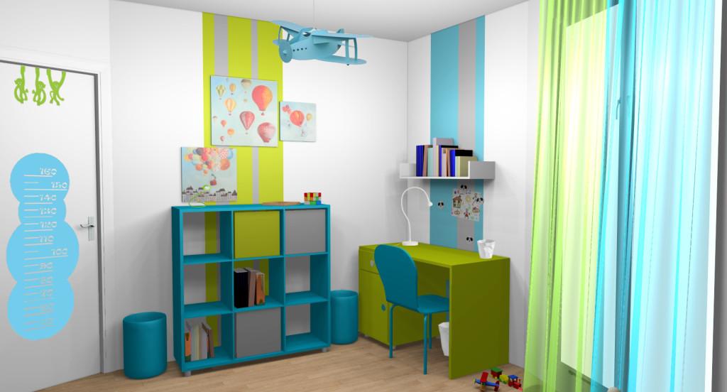 Chambre bébé vert anis et turquoise - Idées de tricot gratuit