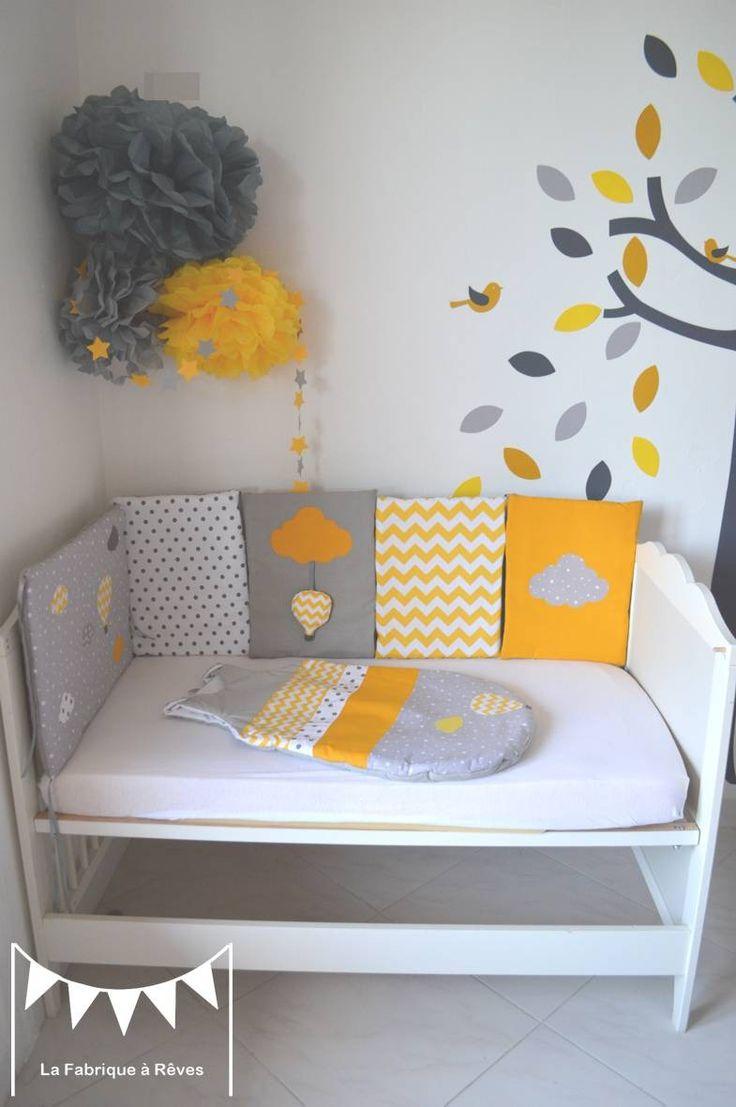 Chambre bébé couleur jaune et gris - Idées de tricot gratuit
