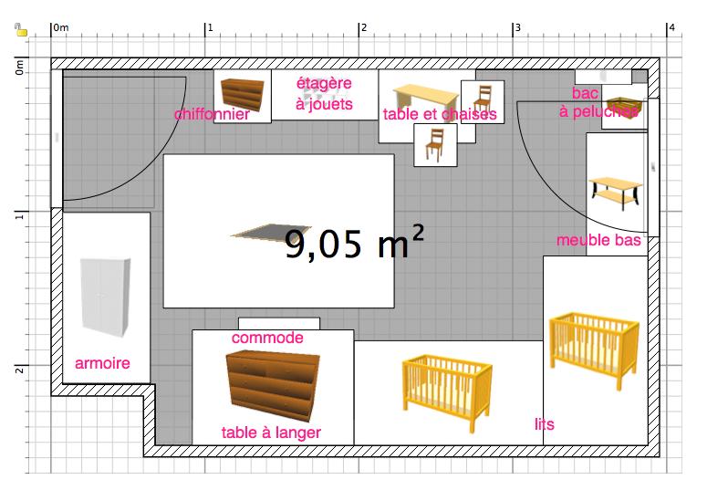 amenagement petite chambre 9m2 bebe id es de tricot gratuit. Black Bedroom Furniture Sets. Home Design Ideas