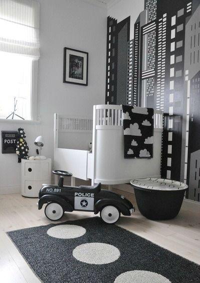 Chambre de bebe noir et blanc