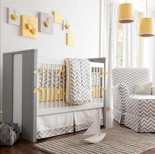 Chambre bebe grise blanche et jaune - Idées de tricot gratuit