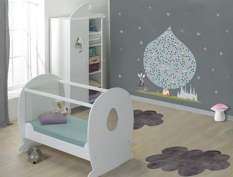 Deco chambre bebe mur blanc - Idées de tricot gratuit