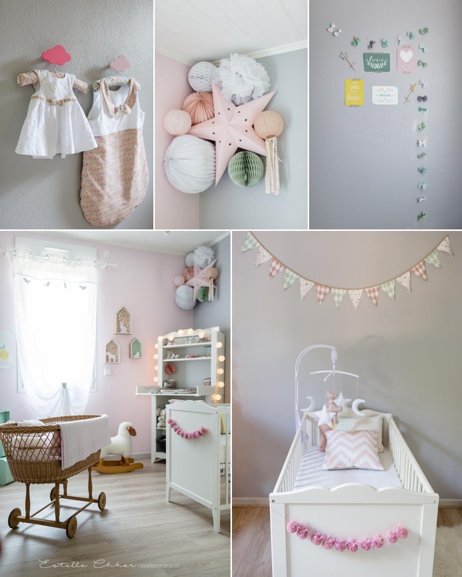 Chambre bebe fille rose et jaune - Idées de tricot gratuit