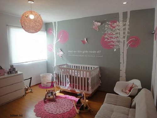 Idee chambre bebe rose et gris - Idées de tricot gratuit