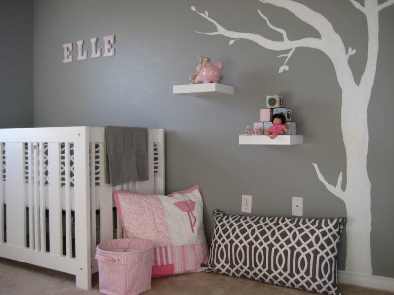 Idee deco chambre bebe gris rose - Idées de tricot gratuit