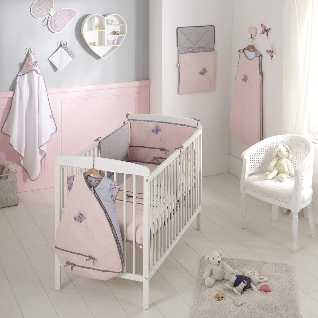 Idee deco chambre bebe fille rose et gris - Idées de tricot gratuit