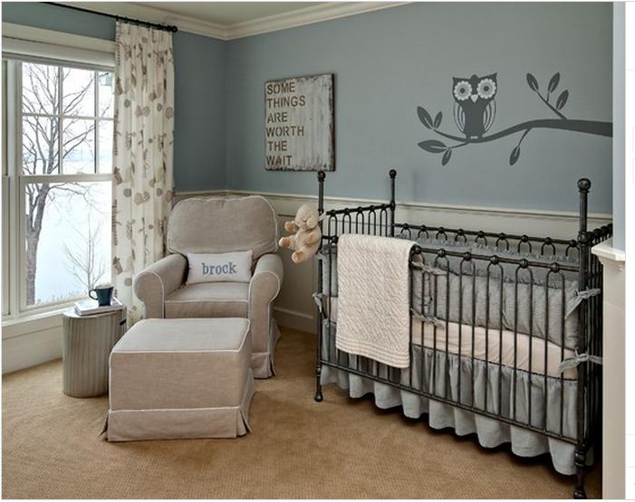 Chambre bébé beige taupe