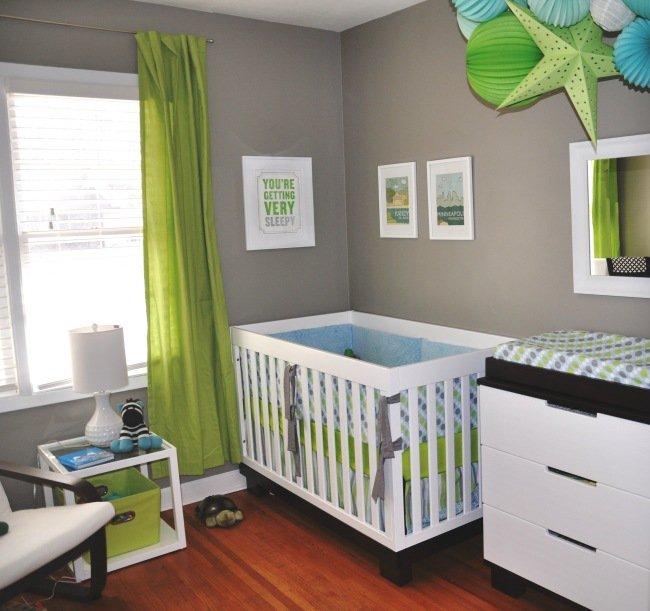 Chambre bébé vert marron - Idées de tricot gratuit