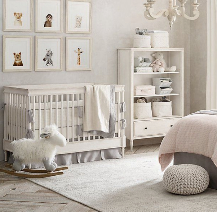 Déco chambre bébé blanc et gris - Idées de tricot gratuit