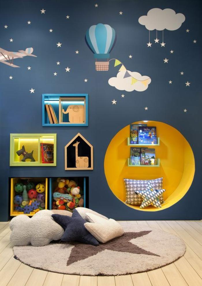 Deco chambre bebe bleu et jaune - Idées de tricot gratuit