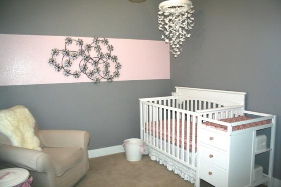 Décoration chambre bébé fille gris et rose - Idées de tricot ...