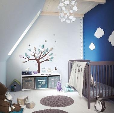 Idée chambre bébé mansardée - Idées de tricot gratuit