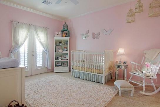Decoration chambre bebe rose pale