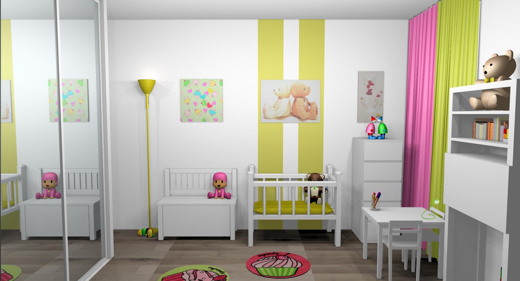 Lustre chambre bébé vert