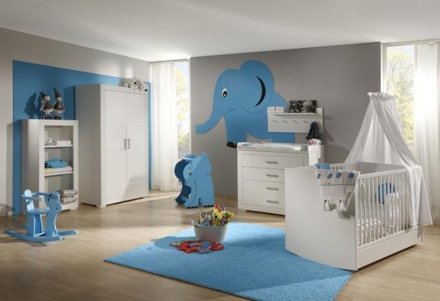 Chambre bebe garcon blanc et bleu - Idées de tricot gratuit
