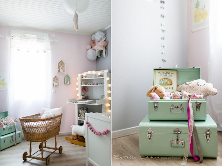 Deco chambre bebe vert deau et rose - Idées de tricot gratuit