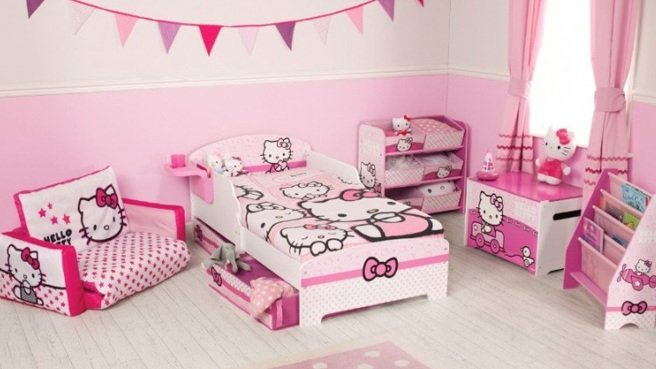 Bon Decoration Chambre Bebe Fille Hello Kitty