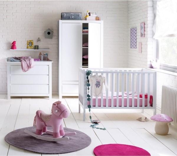 Deco chambre bebe rose et blanc id es de tricot gratuit - Deco chambre bebe rose ...
