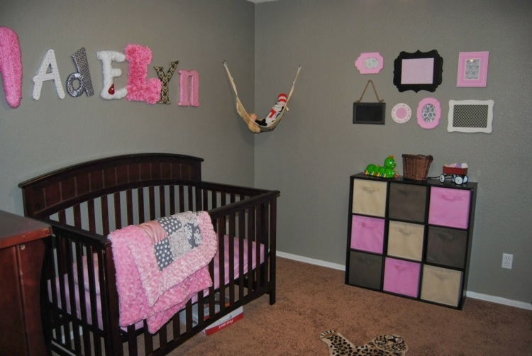 Deco rose et gris chambre de bebe - Idées de tricot gratuit