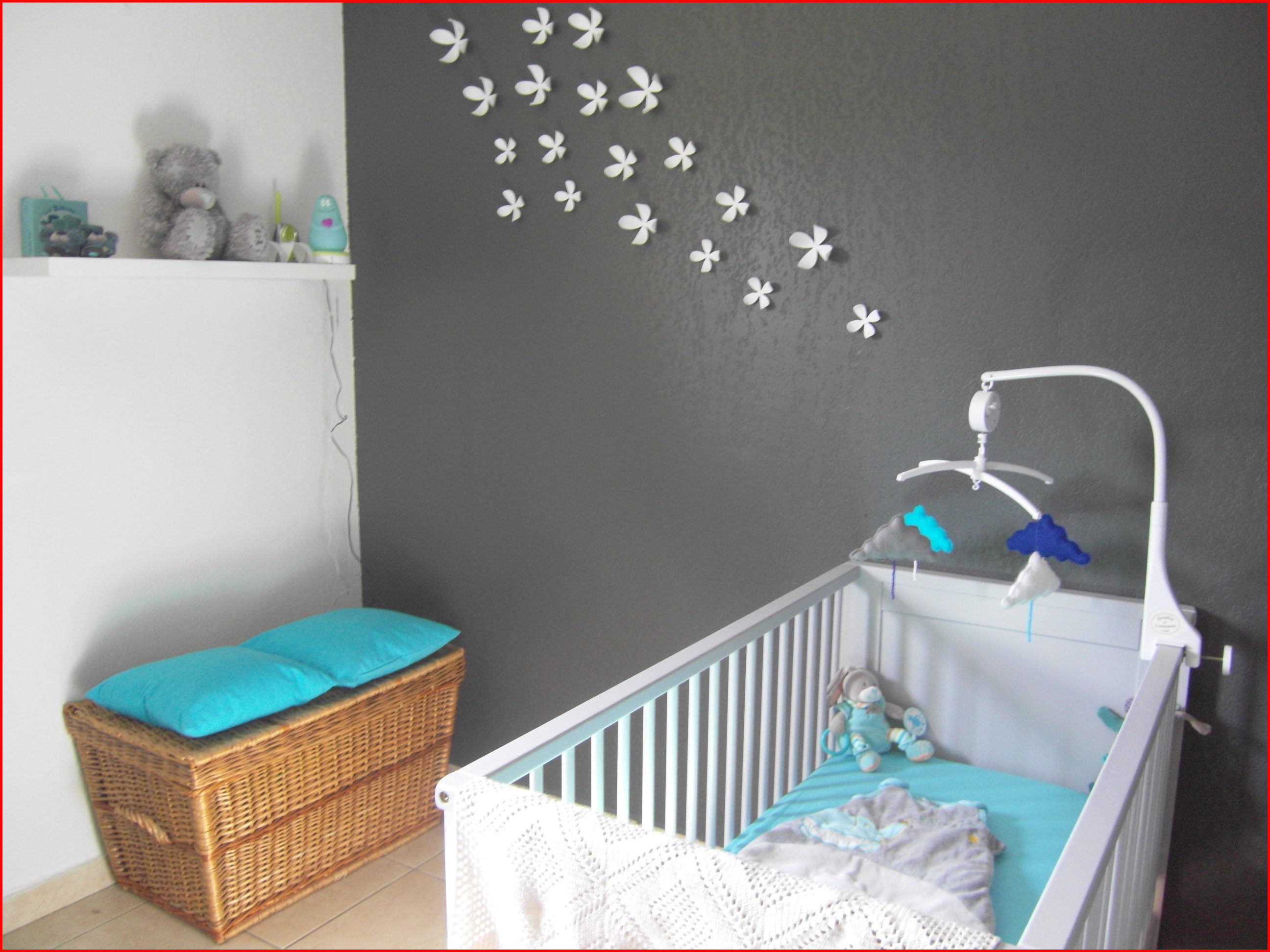 Déco chambre bébé marron et bleu - Idées de tricot gratuit