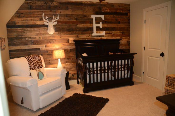 Chambre de bebe meuble brun