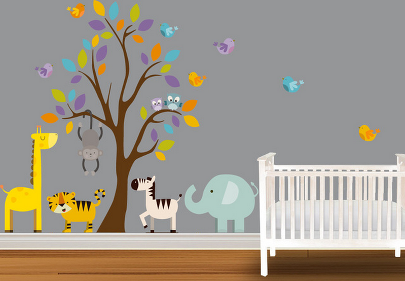 Stunning Stickers Chambre Bebe Jungle Pictures - House ...