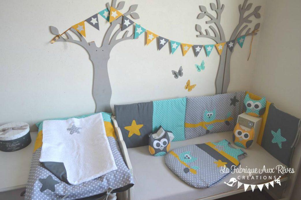 Deco chambre bebe jaune et bleu - Idées de tricot gratuit