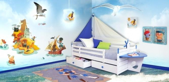 Chambre de b b pirate id es de tricot gratuit - Decoration pirate chambre bebe ...