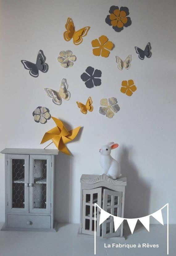 Décoration chambre bébé gris et jaune - Idées de tricot gratuit