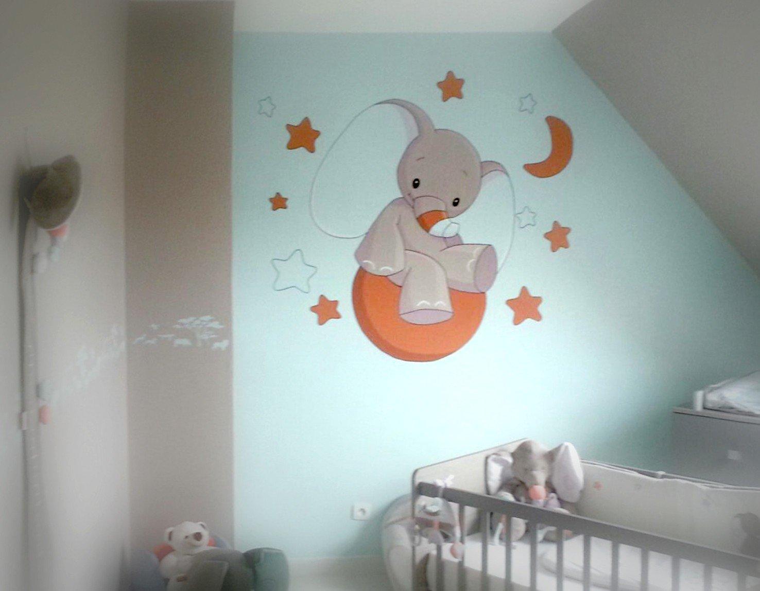 Dessin pour chambre b b id es de tricot gratuit - Chambre bebe peinture ...
