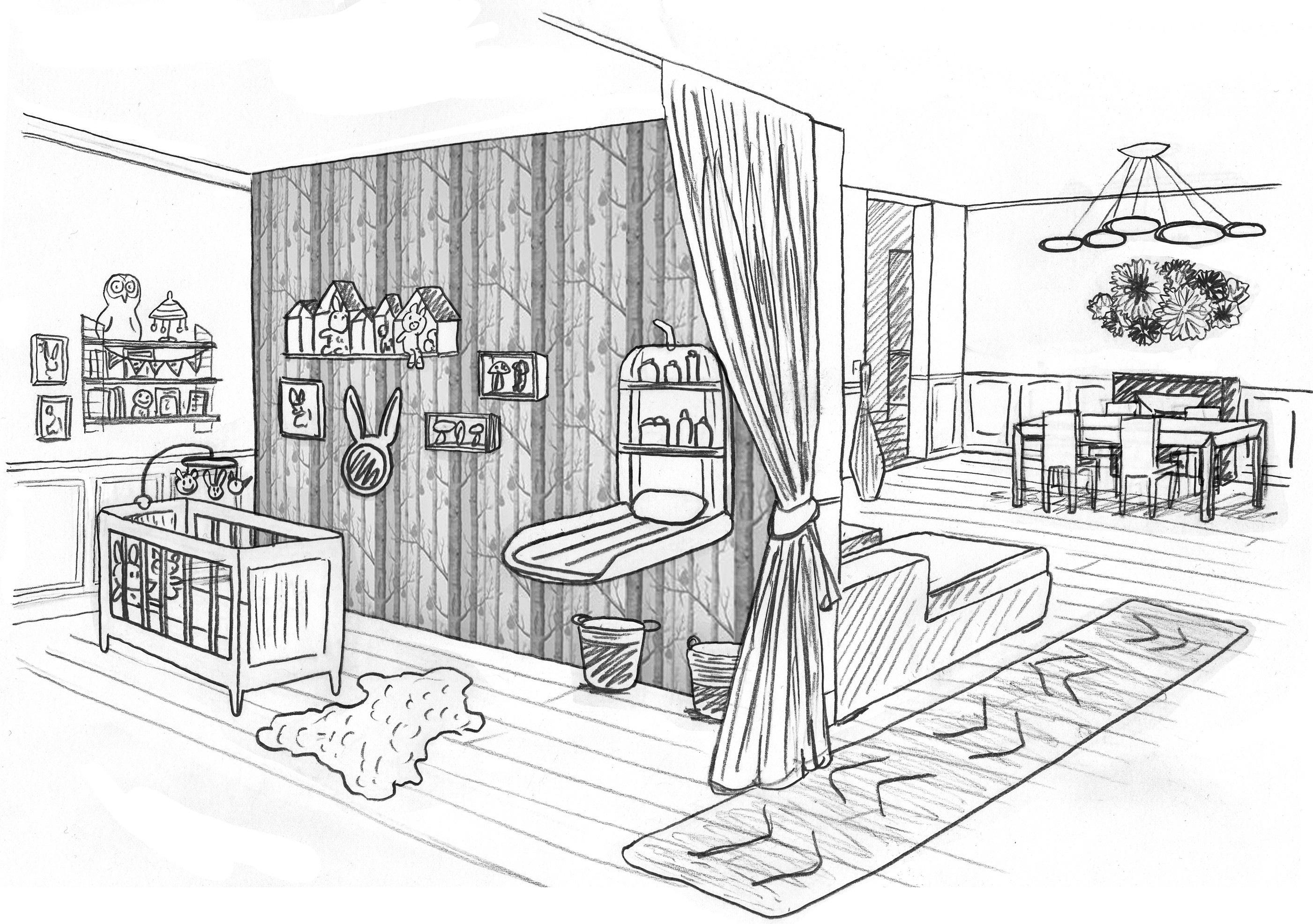 Chambre de bebe dessin - Idées de tricot gratuit