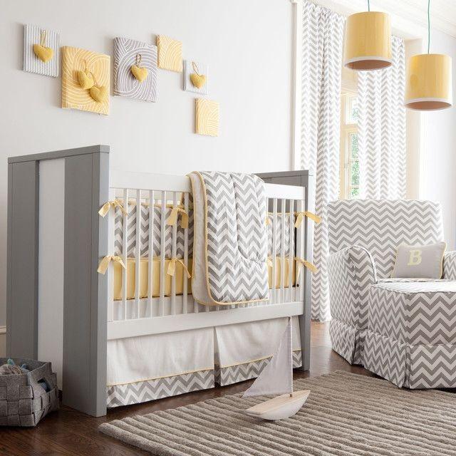 Chambre bébé taupe et jaune - Idées de tricot gratuit