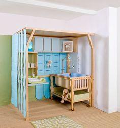 Chambre bebe dans un petit espace - Idées de tricot gratuit