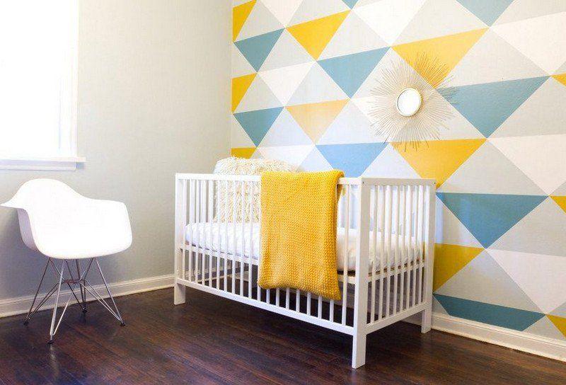Papier peint chambre bebe bleu