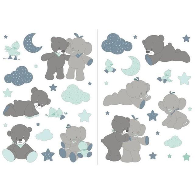 Stickers chambre bébé nattou