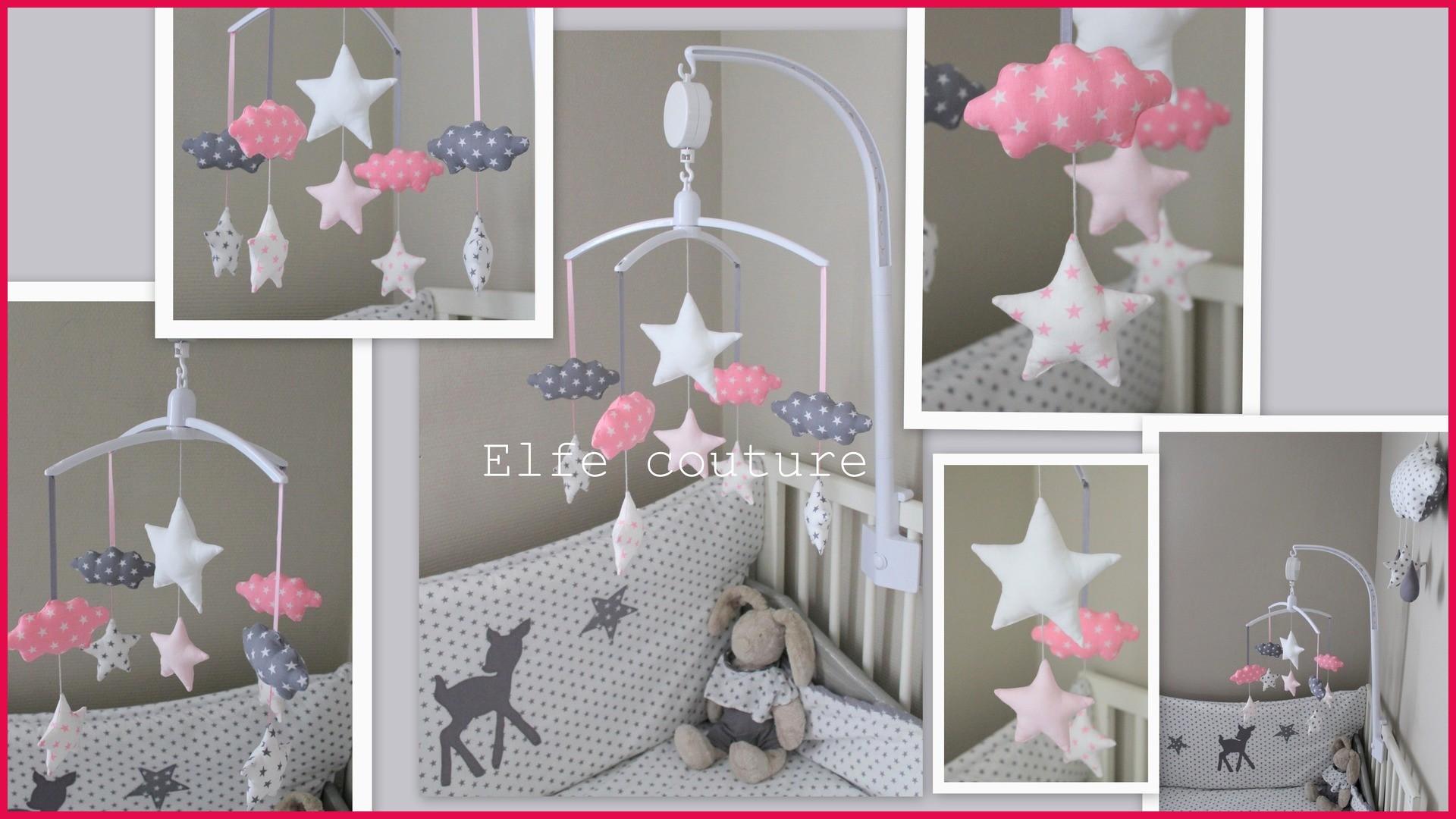 Chambre bebe fille rose gris blanc