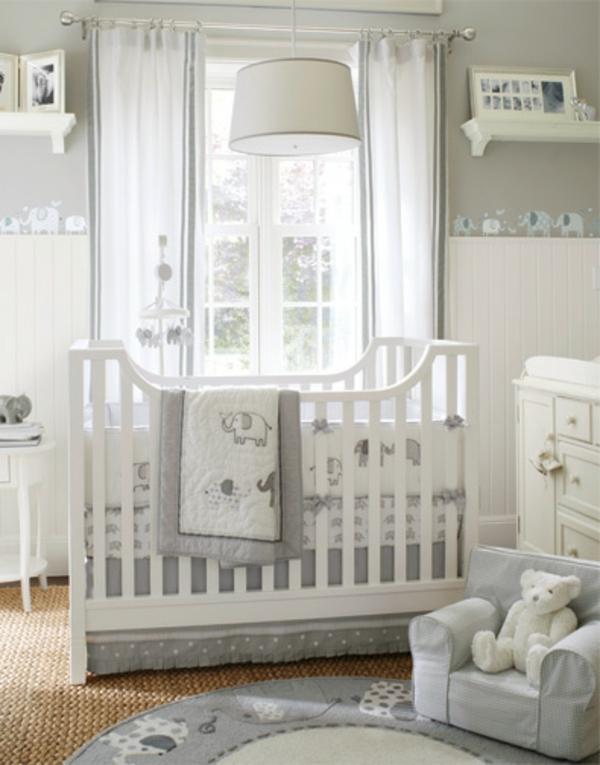 Chambre bebe blanc gris beige - Idées de tricot gratuit