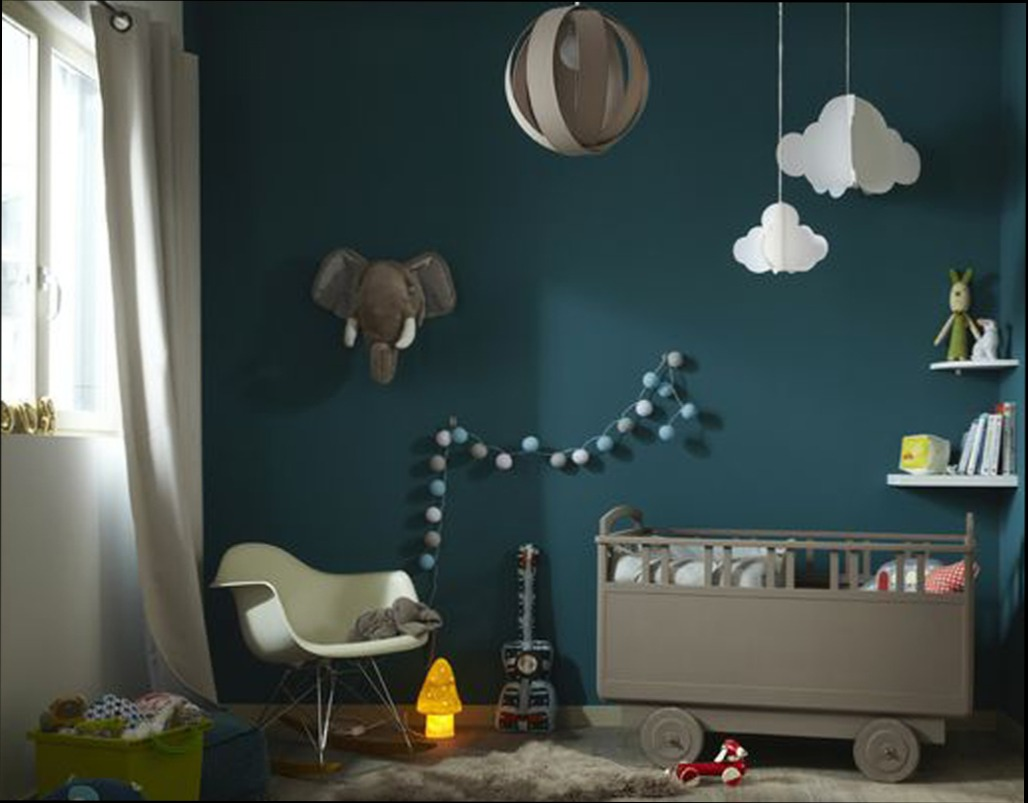 peinture bleu canard chambre bebe id es de tricot gratuit. Black Bedroom Furniture Sets. Home Design Ideas
