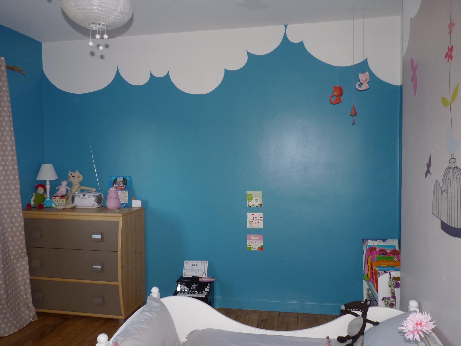 Charmant Chambre Bebe Garcon Marron Et Bleu