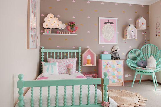 Décoration Chambre Bébé Fille Pastel Idées De Tricot Gratuit