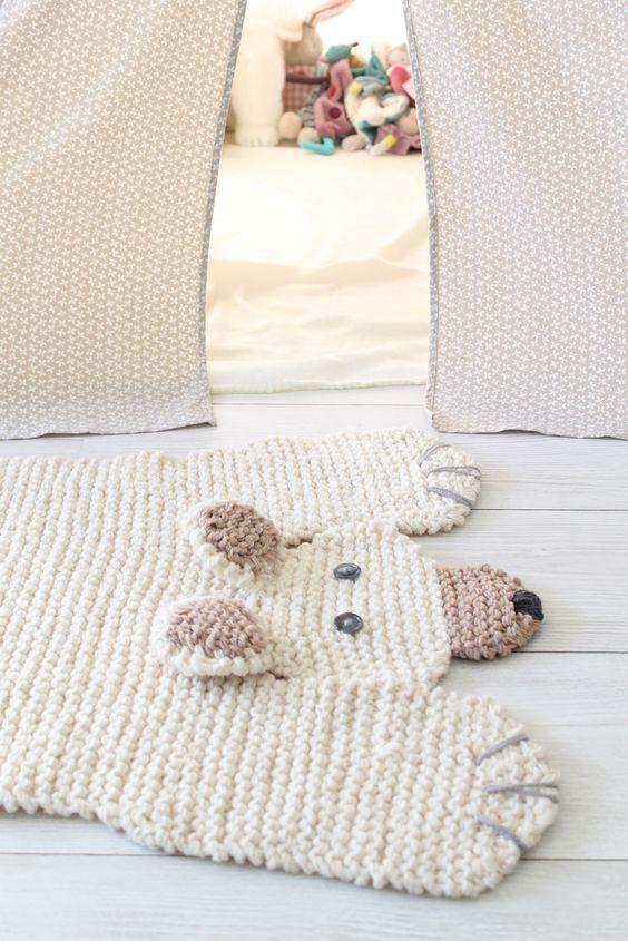 Tapis original chambre bebe - Idées de tricot gratuit