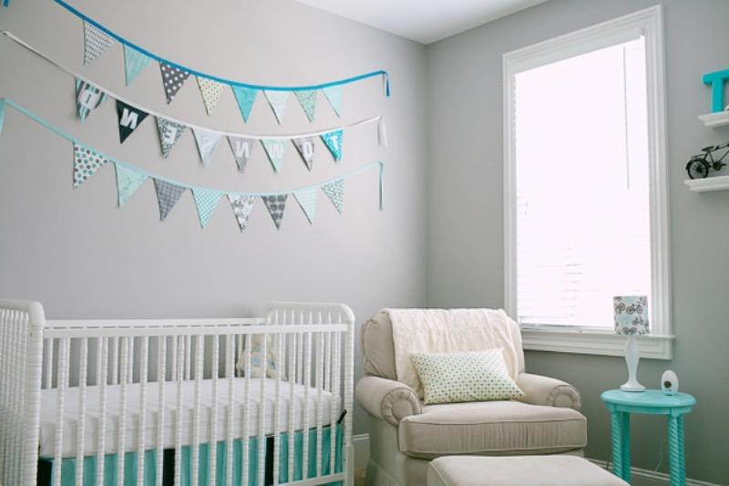 Chambre bebe vert pastel et gris - Idées de tricot gratuit