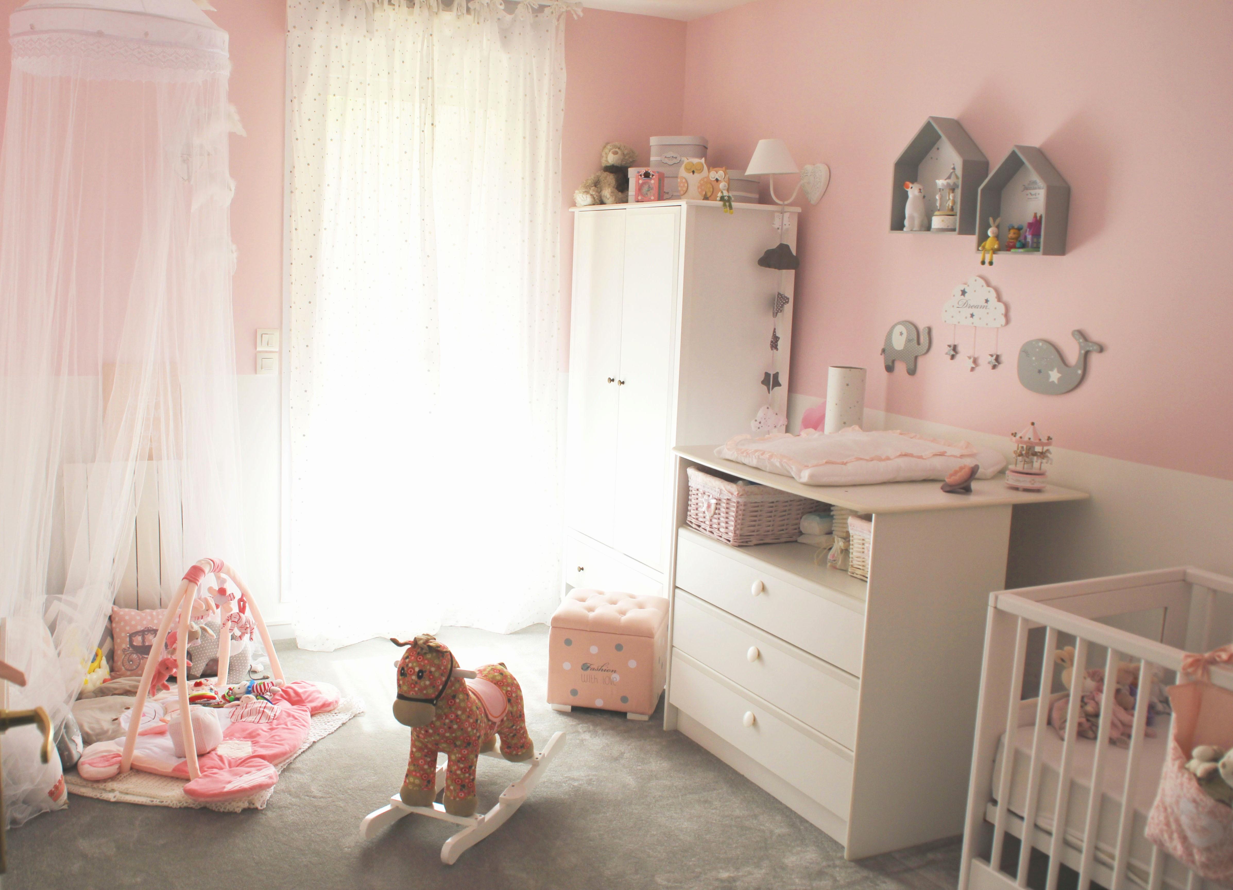 Peinture Chambre Bébé Fille Rose Et Gris Idées De Tricot Gratuit