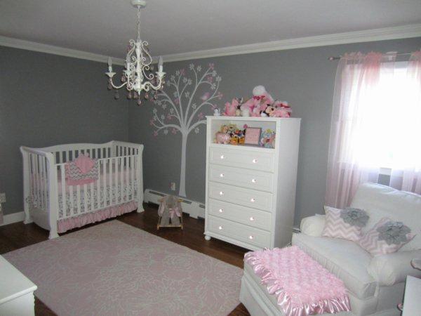 Décoration chambre bébé gris et rose - Idées de tricot gratuit