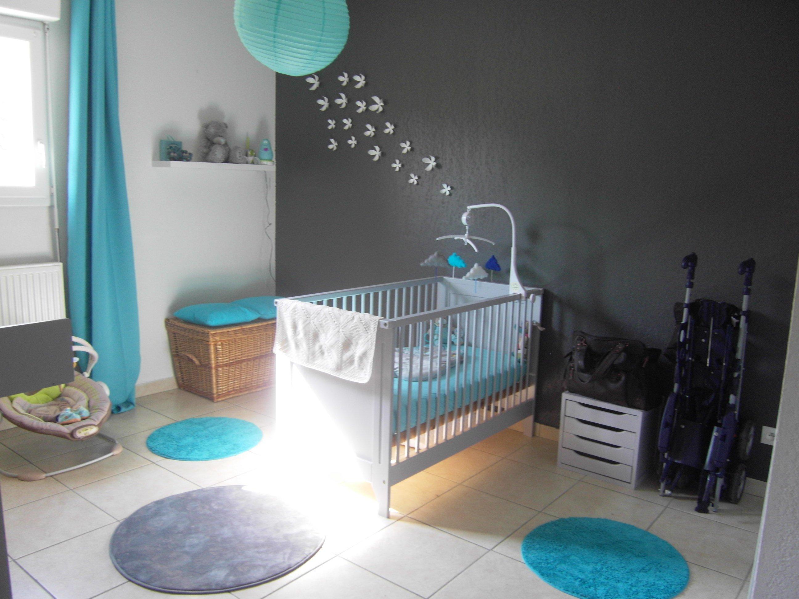 Deco chambre bebe bleu blanc gris - Idées de tricot gratuit