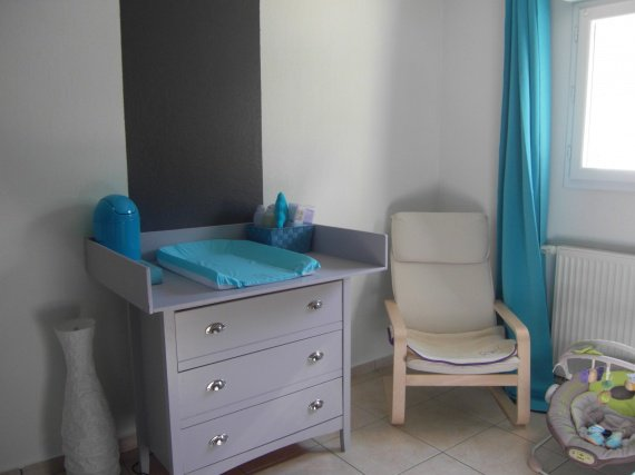 Genial Chambre Bebe Turquoise Gris