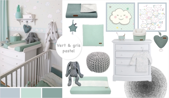 Chambre bebe vert de gris - Idées de tricot gratuit