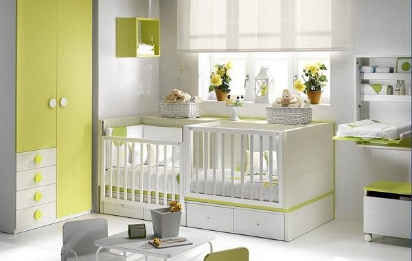 Chambre bébé double