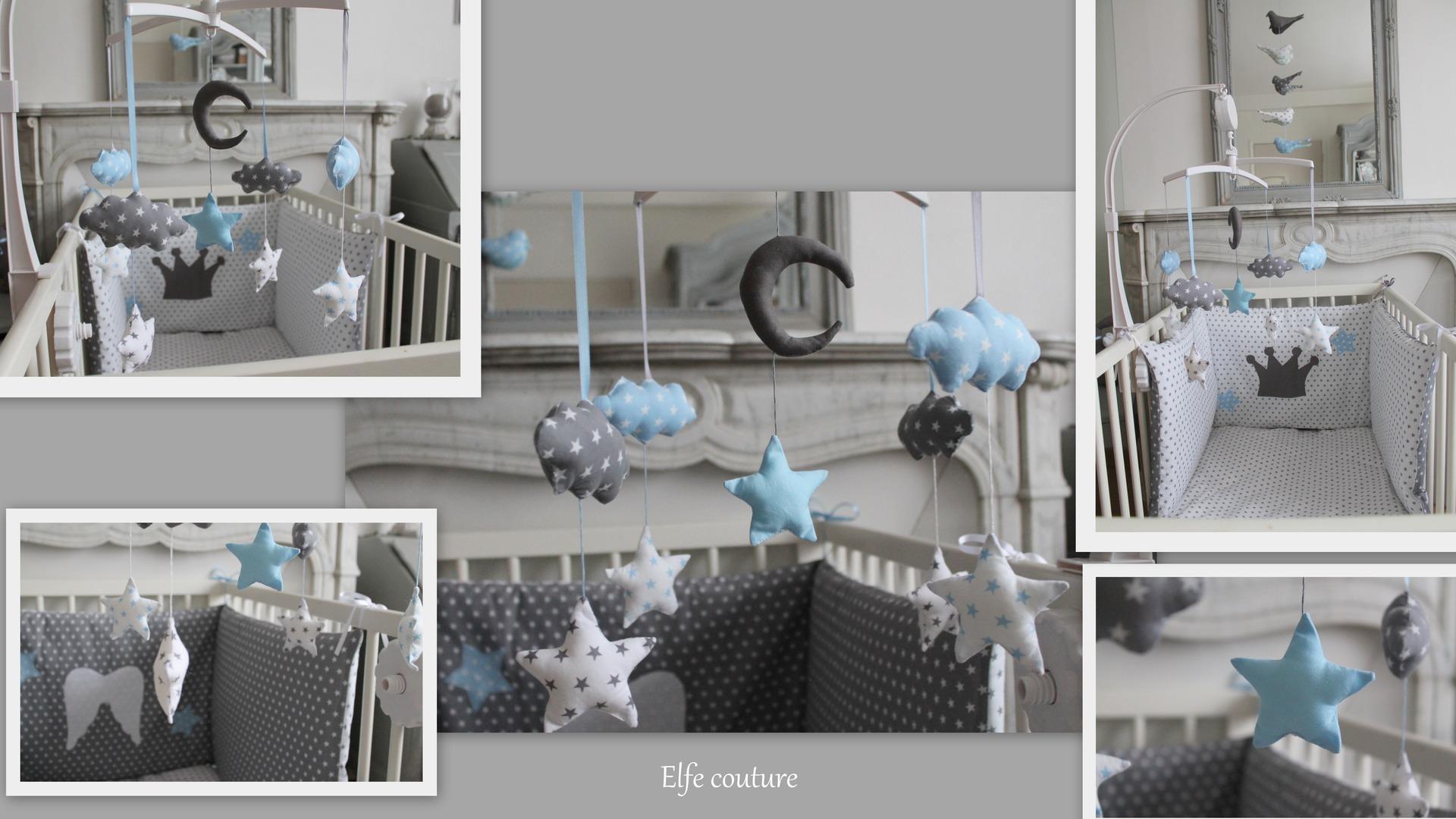 Chambre b b bleue et grise id es de tricot gratuit - Chambre bleu gris blanc ...